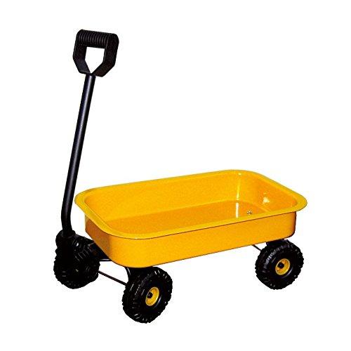 small foot 2020137 3905 Handwagen Blech, leuchtend gelb, leicht zu ziehen mit Metall-Radfelgen und Kunststoffräder