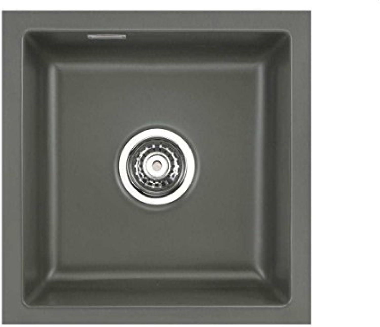 Systemceram Mera 40 U Lava Keramik-Spüle Excenterbettigung Dunkelgrau matt