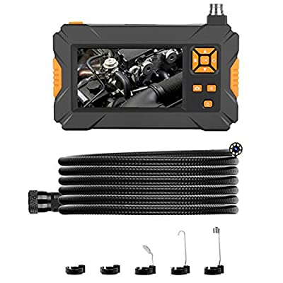 Pipe Inspection Sewer Camera, Pipeline Drain Borescope, Waterproof 4.3in Screen Snake Video Recorder Inspection Equipment System, Industrial Endoscope(1M)