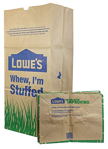 Buy Lowes 30 Gallon Paper Lawn and Leaf Trash Bags, 5 Count (Pack Of 3) 15 Total