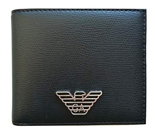 Armani Jeans Eagle Badge Bilfold Wallet One Size BLACK