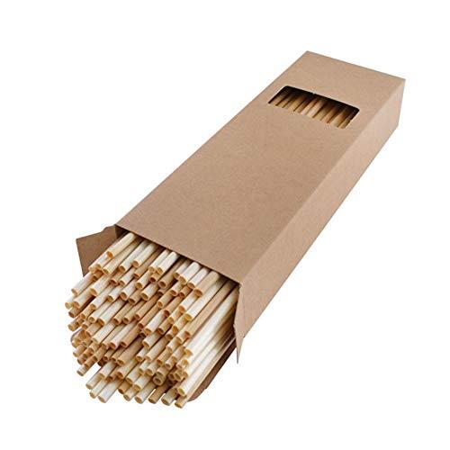 Famyfamy - Cannucce organiche biodegradabili per Bevande di frumento, in plastica Ecologica, 100 Pezzi