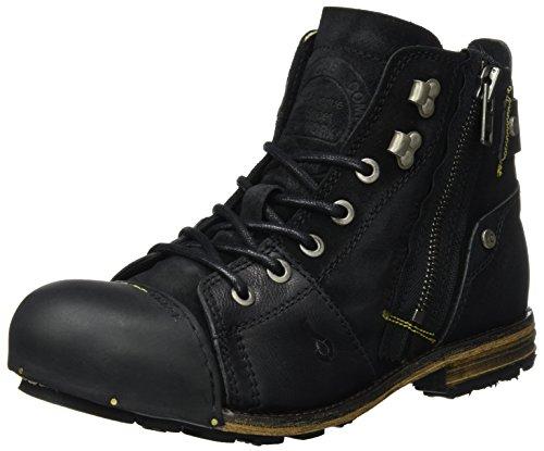Yellow Cab Herren Industrial M Biker Boots, Schwarz (Black 000), 46 EU