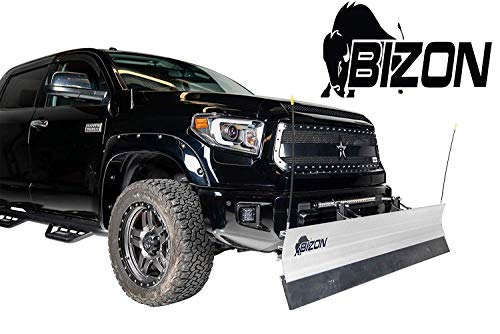 Purchase BIZON Aluminum Snow Plow (fits) 1984-2001 Jeep Cherokee Wagoneer (Compact w/o Skid Plate) O...