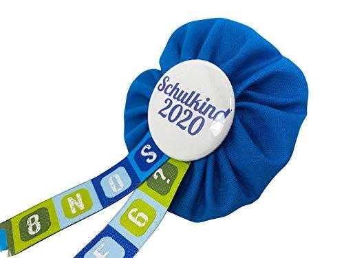 AnneSvea Orden Schulkind 2020 blau Einschulung Schultüte Zuckertüte Deko Geschenk Mitbringsel Anstecker