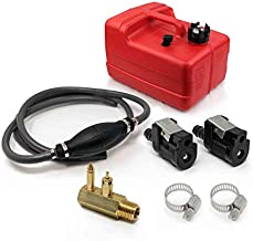 Five Oceans 3 Gallon Fuel Tank/Portable Kit for All Yamaha and Mercury Engines Connection, 3/8 inches Hose FO-4129-C3