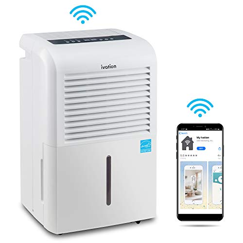 Price comparison product image Ivation 4, 500 Sq Ft Smart Wi-Fi Energy Star Dehumidifier with Pump and App,  Includes Continuous Draining Hose Connector,  Programmable Humidistat and 2.25 Gal Reservoir and for Medium and Large Rooms
