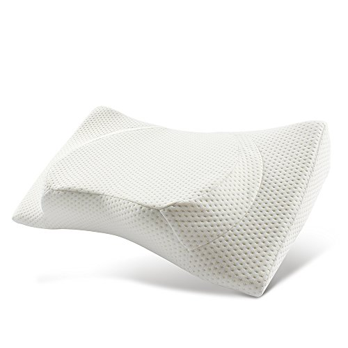 jiaao Contour Memory Foam Pillow Orthopedic Pillows for Neck Pain Ergonomic Pillow for Back...