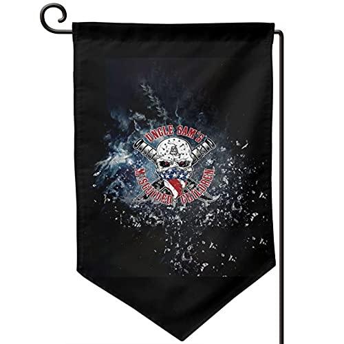 Aioxbz Banderas de jardín de Uncle Sam's para niños al aire libre, banderas para decoración del hogar, 30 x 45 cm