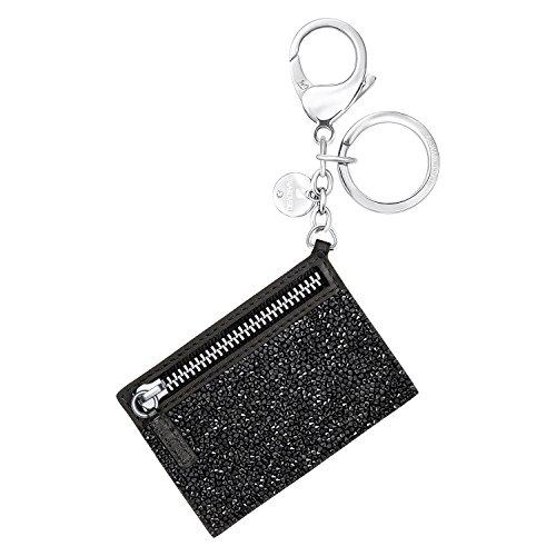 Swarovski Damen-Schließe Glam Rock Handtaschen-Charm Edelstahl rhodiniert Leder Kristall schwarz - 5270965