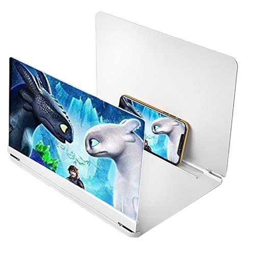Lupa de pantalla Amplificador de pantalla, amplificadores de pantalla plegable para teléfono inteligente, lupa de la pantalla del teléfono móvil, lupa de pantalla para teléfono celular compatible con