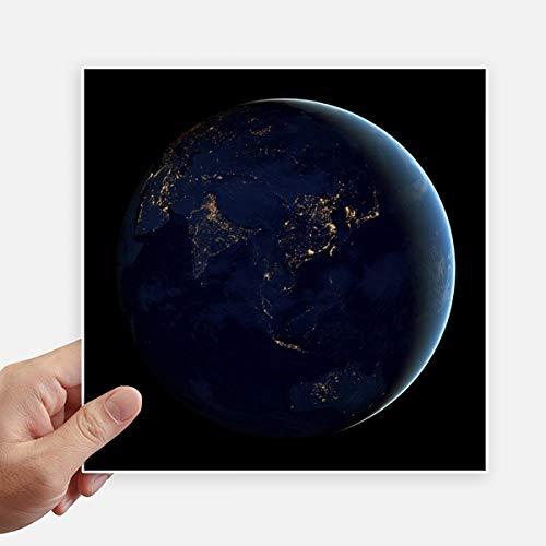 DIYthinker Univers Espace Bleu Planète Terre Autocollant carré de 20 cm Mur Valise pour Ordinateur Portable Motobike Decal 4Pcs 20Cm X 20Cm Multicolor