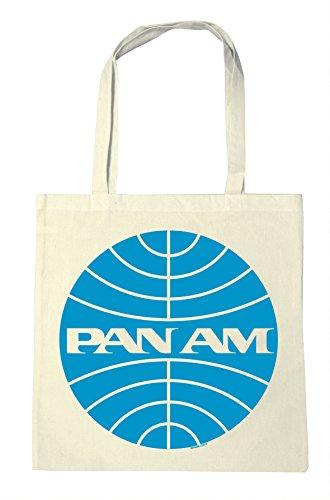 Logoshirt Pan Am - Logo - Airline Baumwolltasche - Stofftasche mit Druck und langen Tragegriffen - natur