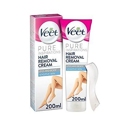 Veet Pure Inspirations Hair Removal Cream for Sensitive Skin, Body & Legs, 200 ml