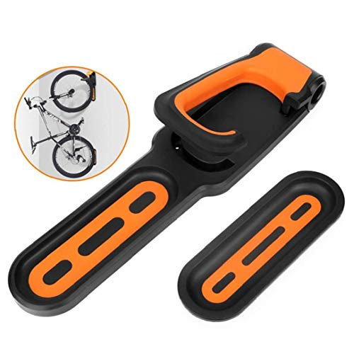 Foldable Vertical Bike Rack Wall Mounted Heavy Duty Bicycle Wall Hook Garage Bike Rack Wall Mount for Garage Shed Orange