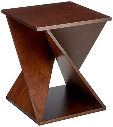 Marca Amazon - Rivet - Mesita auxiliar, 42,7 x 42,7 x 52 cm, marrón oscuro
