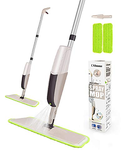 Hardwood Spray Mop for Floor Cleaning, CXhome Microfiber Mop for Tile Floors, Wet Dry Mop with...