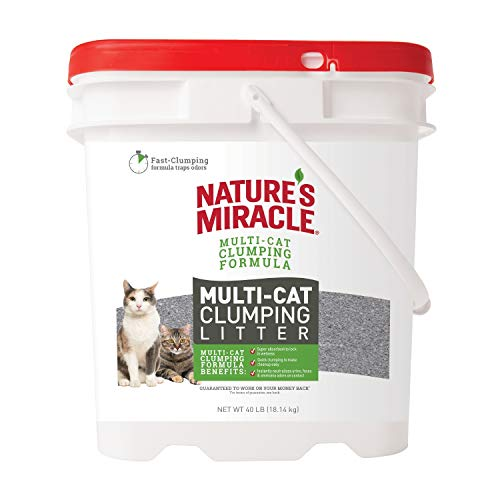 Nature's Miracle P-98140 Multi-Cat Clumping Clay Litter, 40...