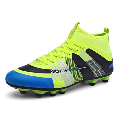 Zapatillas De Fútbol para,Outdoor Turf Trainers Soccer Shoes Botas De Fútbol para Wear-Resistence Football Non-Slip Hombres y Mujeres (3 Color)