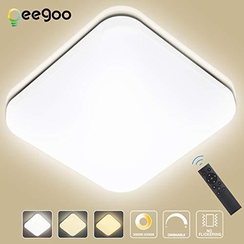 Oeegoo 24W Regulable LED de Luz de Techo Cuadrado