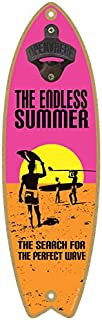 """SJT ENTERPRISES, INC. The Endless Summer - The Search for The Perfect Wave (Pink, Orange, Yellow Sunset) Bottle Opener 5"""" ..."""