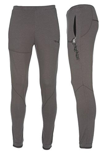 Yogamasti - Yoga-Hosen für Herren in Grau - Grau, Größe S-M