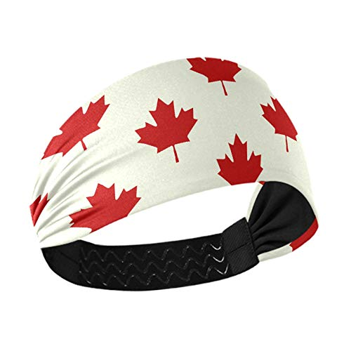 Hair Band Canadian Maple Leaf Seamless Vector Makeup Headband For Washing Face With Non-slip Elastic Webbing For Running Fitness Basketball Dancing Fits All Men And Women