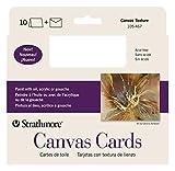 Strathmore (105-467-1 STR-105-467 Canvas Full Cards (10 Pack), 5x6.875 in, White, 10 Cards & Envelopes
