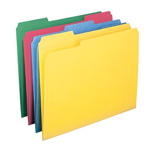 SMEAD Aktenhülle, verstärkt, mit Register, Briefformat (US), verschiedene Farben, 12pro Pack (11641)