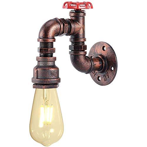 Wall lamp Tubería de Agua de la Vendimia Luz de Pared Industrial Retro Creativo Hierro Forjado E27 Aplique de Pared Interior para el Restaurante Cafe Gazebo (Bulbo no Incluido)