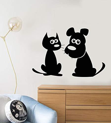 jiuyaomai Perro Lindo Etiqueta de la Pared de Dibujos Animados Gato Perro...