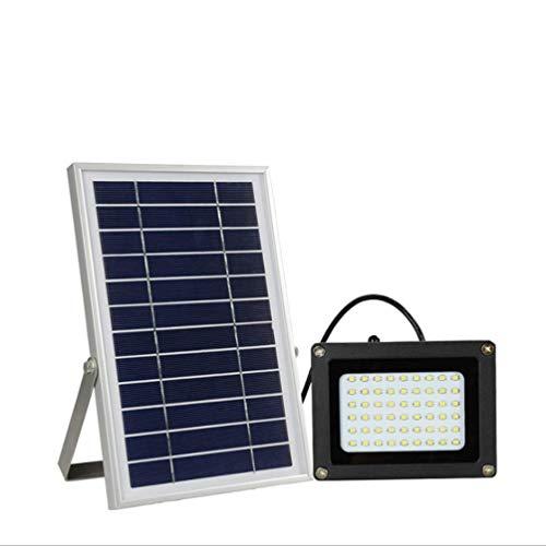 Star Projecteur Solaire, 54 LED, Lampe Murale de sécurité, étanche à détecteur de lumière, Spot Solaire pour Jardin, Cour, Cour, Piscine, Garage, allée
