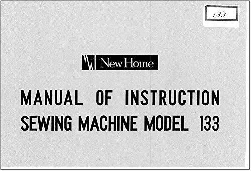 Amazing Deal for Janome Spare Part 133 Sewing Machine Owners Instruction Manual