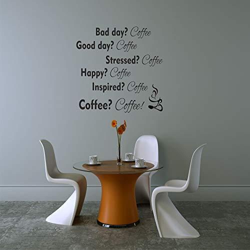 Ajcwhml Kaffee Umweltschutz Vinyl Aufkleber Kinderzimmer Dekoration Zubehör