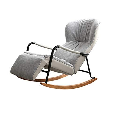 XuZeLii Mecedora Relax Reclinable Plegable Almuerzo Descanso nórdico Sala de Estar Dormitorio Laz sofá balcón hogar Ocio Mecedora Silla reclinable Adecuado para Patio Trasero Al Aire Libre