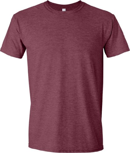 Gildan Men's Softstyle Ringspun T-shirt - Large - Heather Maroon