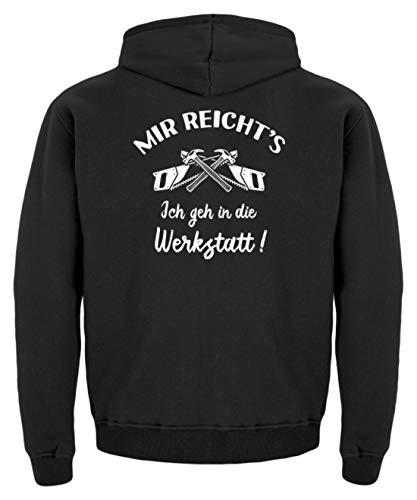 shirt-o-magic Tischler Schreiner: Ich GEH in die Werkstatt! - Kinder Hoodie -12/14 (152/164)-Jet Schwarz