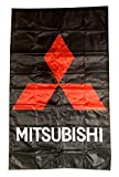 Cyn Flags MITSU-BISHI SCHWARZ Fahne Flagge VERTIKAL 5 X 3 ft