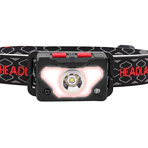 センサーヘッドライト LED 屋外釣りヘッドライト COB 強力なヘッドライト XPG + COB ポータブル内蔵バッテリーヘッドライト