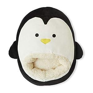 Balvi Calienta pies Pingu Color Negro Mantén Calientes Tus pies Bolsa Suave y cómoda con diseño Divertido y Original en Forma de pingüino Poliéster