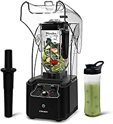 CRANDDI Quiet Shield Blender with 2200W Base
