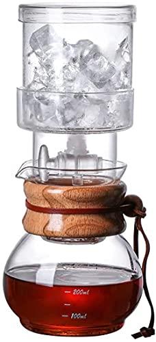 Fabricante de café de hielo para el hogar y la oficina Cafetera de cerveza de vidrio cubo de hielo taza filtro de té taza de goteo frío cafetera Set