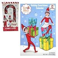 Elf on The Shelf ホリデーカウントダウンアドベントカレンダー ボーナスチェリーキャンディケーンギフトセット