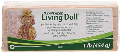 Polyform Products Company Super Sculpey Living Doll Clay 1 Pound-Beige, 13 x5 x 5cm