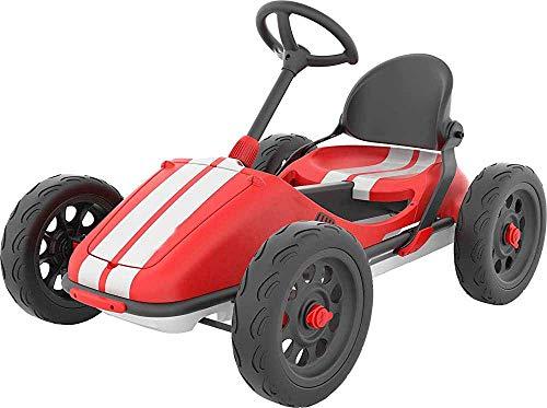 Scooter Kart Kart sin necesidad de herramientas y la parte posterior del asiento plegable de la rueda de dirección ajustable, sin necesidad de herramientas,Red
