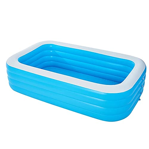 ZzWEI Summer Thicken Inflatable Swimming Pool Adults Kids Pool Bathing Tub Outdoor Indoor Family Swimming Water Pool Nflatable Bathtub