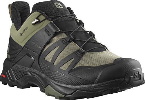 Salomon X Ultra 4 Wide GTX, Zapatos para Senderismo Hombre, Deep Flechten Green Black Olive Night, 44 EU
