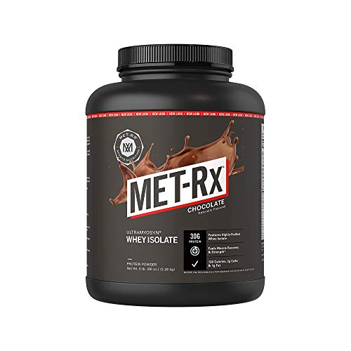 MET-Rx Ultramyosyn Whey Protein Isolate Powder, Keto Diet Friendly, Low Carb, Great for Meal Replacement Shakes, 30 g of Protein, Chocolate, 5 lbs