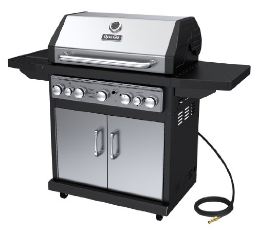 Dyna-Glo Black & Stainless Premium Grills, 5 Burner, Natural Gas