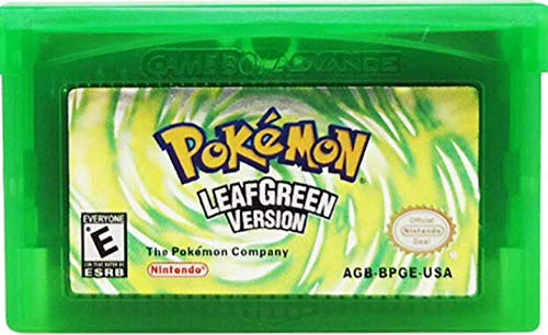 Pokemon Leaf Green Version Reproduction Game Card Gameboy Advance (USA) English